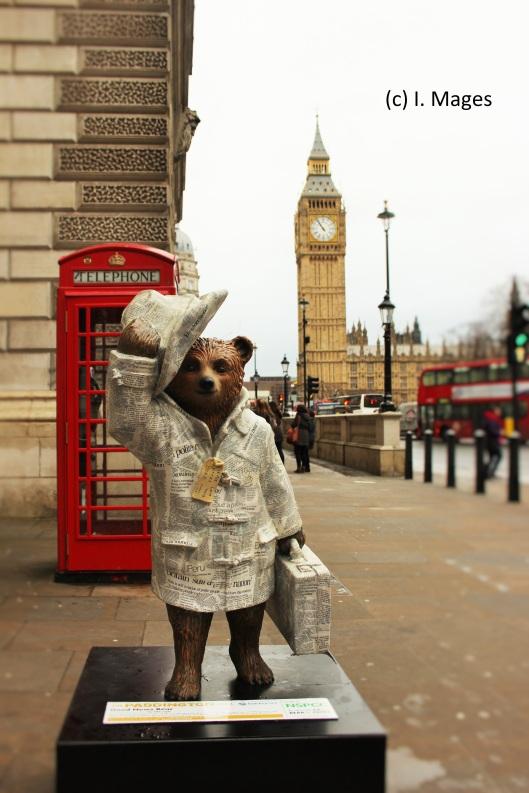 Päddington Bär vor dem Big Ben