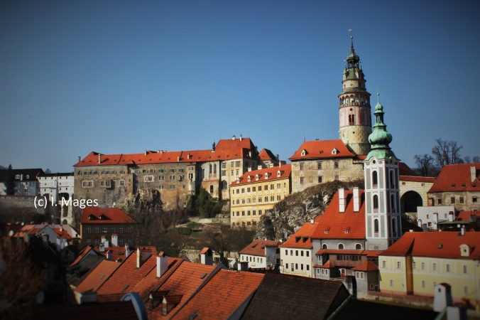 Cesky Krumlov - eine der zahlreichen Burgen in Tschechien, nach dem Hradschin in Prag übrigens die größte des Landes