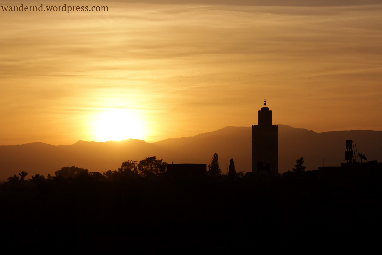 Marrakech-sonnenaufgang