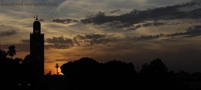 Marrakech - Sonnenuntergang hinter der Koutoubia