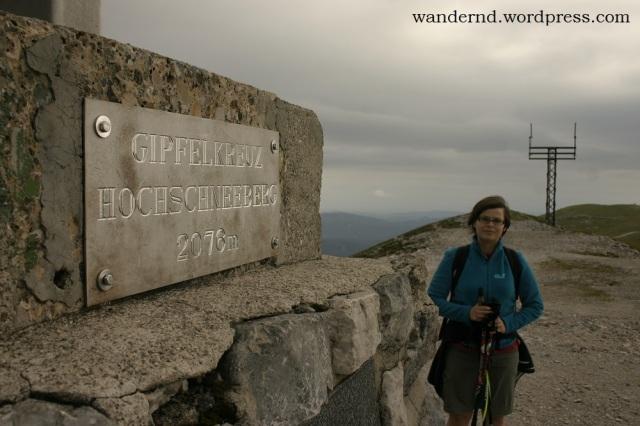 Marlene am Gipfel - der höchste Berg Niederösterreichs wurde erfolgreich bestiegen!