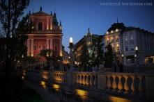 Ljubljana bei Nacht