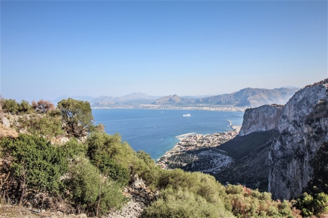 Ausblick vom Monte Pellegrino auf Palermo