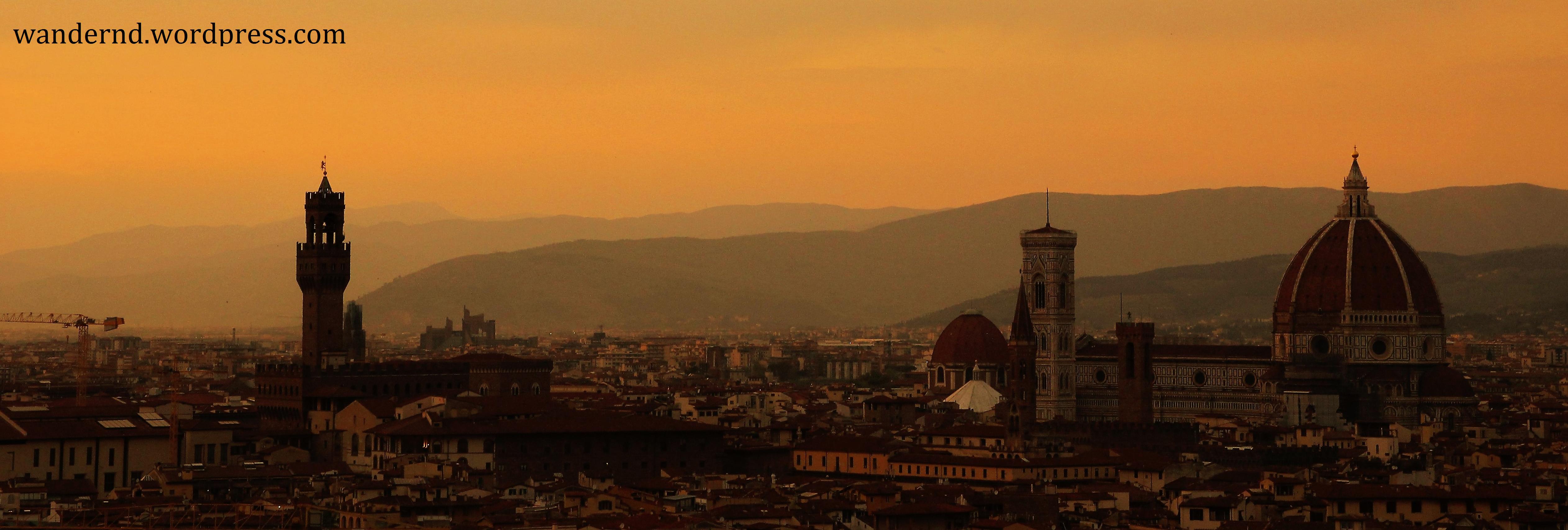 Florenz-Ausblick-Sonnenuntergang